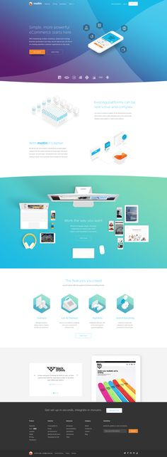 Dribbble - moltin-homepage.png by Damian Kidd
