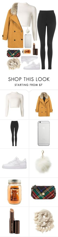 """""""Air Force"""" by patricia-pfa ❤ liked on Polyvore featuring Maison Margiela, Topshop, Native Union, NIKE, Charlotte Russe, Holiday Memories, Dooney & Bourke, Hourglass Cosmetics and Athleta"""