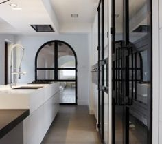 Steel & Glass doors for wine cellar