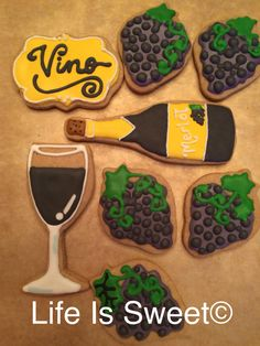 Life is sweet cookie! Wine tasting!