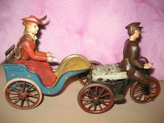 Vintage German Lehmann Tin Wind Up Anxious Bride Nanni Double Toy from 1913 | eBay