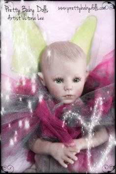 My first fairy from the skeeter sculpt by D. Rubert. She  is featured on the bountiful baby website as a prototype picture to show  how she looks when reborn /complete.