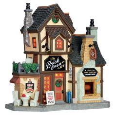Lemax The Brick Oven Cafe SKU# 65096. Released in 2016 as a Lighted Building for the Caddington Collection.