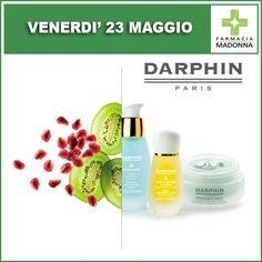 Venerdì 23 maggio: GIORNATA DAPRHIN. Potrai effettuare un trattamento flash di 15 minuti con la consulente Darphin e ricevere dei campioni prova in omaggio.  #farmaciaallamadonna #farmacia #mestre #eventi #maggio#darphin