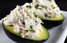 Limoen krabsalade in avocado