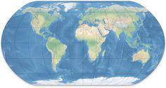 #Mapa del Mundo en Relieve (Shaded Relief)