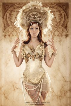 Model, make-up, styling, headdress designer, retouch: Photographer: Breastplate design: GirlArmour (www.girlarmour.com)
