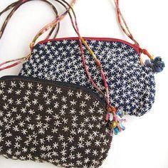 刺し子刺繍のポシェット - アジアン衣料・アジアン雑貨のRisi e bisi(リジェビジ)