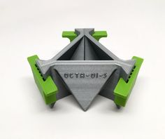 Octaedro molde - 3D impreso - molde geométrico - molde concreto-resina-cera-jabón