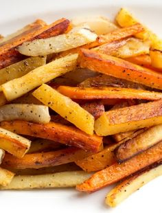 Root Vegetable Baked Fries omit potatoes & pepper, use EVOO Baked Vegetables, Root Vegetables, Side Dish Recipes, Vegetable Recipes, Nightshade Free Recipes, Paleo Recipes, Cooking Recipes, Clean Eating, Healthy Eating