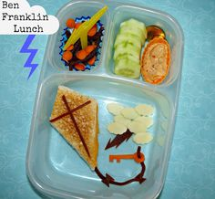 Ben Franklin Easy Bento Lunch - cute!