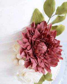 Friday prettiness... This Dahlia was my most favourite sugar flower to learn ever.. Thank you Jacqueline  @petalsweetcakes I loved every moment   www.redapron.com.au New Cake, Sugar Flowers, Most Favorite, Dahlia, Succulents, Cakes, Learning, My Love, Instagram Posts