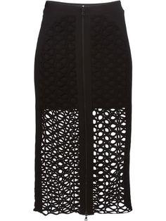 David Koma lace overlay skirt