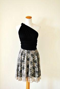 infinity skirt | Black: Women Infinity Dress / Infinity Pastel Pink Lace Black Dress ...