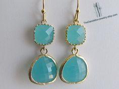 SALE 10% OFF: Glass Earrings Mint - Dangle Earrings Drop Earrings Jewelry Gift by Thedandelionjewelry on Etsy https://www.etsy.com/listing/103272812/sale-10-off-glass-earrings-mint-dangle