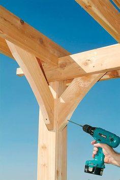 How to Build a Pergola - DIY Building a Pergola - Popular Mechanics ~ great instructions and visuals