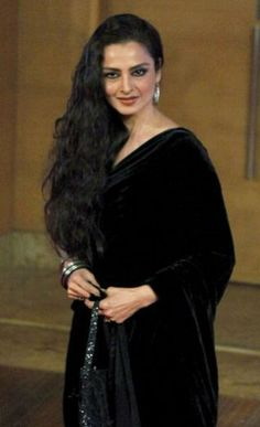 """Rekha"" a famous indian actress and my favorite...........she refuses to get old! ;)"