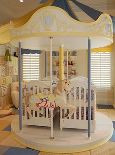 twin Nursery Ideas | Incredible Twin Nursery Ideas with a Merry Go Round Theme