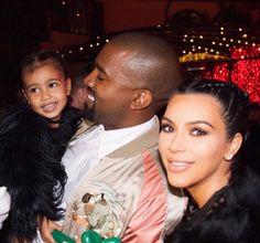 Kim, Kanye & North <3333