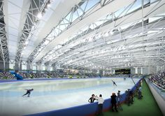 Kangneung Speed Skating Arena & Sports Complex Masterplan by Samoo Architects & Engineers in Kangneung, South Korea