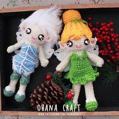 Sisters ! Tinkerbell and Periwinkle crochet dolls https://www.instagram.com/ohanacraft/