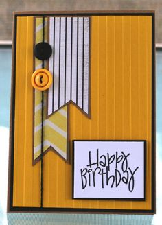 Handmade Card, HAPPY BIRTHDAY.  via Etsy.  good male card