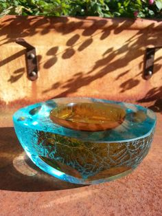 Vintage Murano Sommerso faceted bowl with with a by fcollectables, €85.00