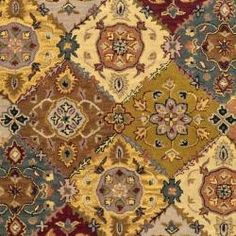 Handmade Heritage Bakhtiari Multi/ Red Wool Rug (7'6 x 9'6)