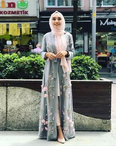 30 Latest Eid Hijab Styles With Eid Eid Fashion 2019 Eid Outfit Ide. 30 Latest Eid Hijab Styles With Eid Eid Fashion 2019 Eid Outfit Ideas with Hijab- Hija Hijab Style Dress, Modest Fashion Hijab, Modern Hijab Fashion, Casual Hijab Outfit, Abaya Fashion, Muslim Fashion, Hijab Wear, Fashion Fashion, Abaya Style