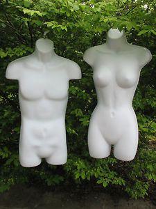 Male-Female-MANNEQUIN-Hollow-HANGING-Dress-Half-FORM-Body-Torso-Display