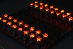 This handmade neon chessboard uses an old technology to get that nostalgic appearance of the past these Nixie Tubes are rare and cool.