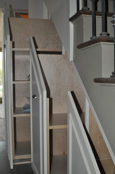 Storage Idea For Under The Basement Stairs   Good For Gift Wrap, Toys, Etc