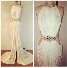 evening dress white gown !sexy