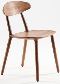 Wu Side Chair — Jarrett Furniture - Supplying to individual hospitality projects in the UK and abroad Side Chairs, Dining Chairs, American Walnut, Armless Chair, Hospitality, Solid Wood, Projects, Furniture, Artisan