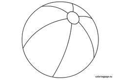 Image result for printable beach ball template | all ...