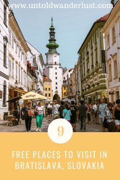 Free places to visit in Bratislava