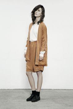 JUST FEMALE SS 13 // Oz Blazer . Super Shorts . Notes Cardigan // Model : Emma Leth