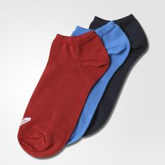 An everyday basic gets a dose of originality in the Trefoil Liner Socks. Cut for a no-show look when worn with sneakers, these socks are made with a slightly stretchy cotton and feature a Trefoil on top of the foot.