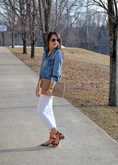 perfect spring outfit: preppy, casual, chic
