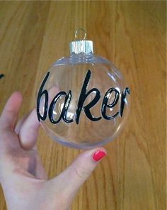 This DIY Christmas Ornament is super easy and you only need three things to make it!   Materials:  Clear plastic ornament (I got mine...