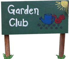 have kids paint a sign and name the garden