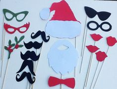 Just bought this for Max's party... love!  So fun. :)   Christmas  Photo Booth Props - Christmas- 17 piece set - Holiday Party