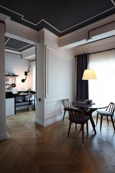 Karaköy Rooms - desire to inspire - desiretoinspire.net - I want to reproduce the mouldings on these walls. Timeless elegance.