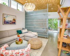 Swiss Miss A-Frame House by Charles Dubois - Dwell Open Space Living, Living Spaces, Living Room, Teak Bathroom, Waterfall Countertop, Mid-century Modern, Modern Design, Small Terrace, Terrazzo Flooring