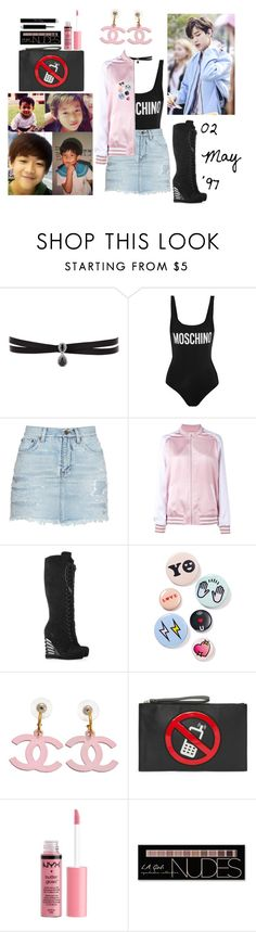 """""""GOT7's Double B"""" by poisonivy19 on Polyvore featuring Fallon, Moschino, Yves Saint Laurent, Bing Bang and Charlotte Russe"""