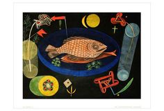 One Kings Lane - Rare Posters - Paul Klee, Around The Fish