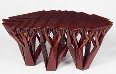 fractal table 3D Printed #3dPrintedFurniture