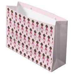 Pink Tutu Ballet Birthday Dance Teacher Ballerina Large Gift Bag - birthday gifts party celebration custom gift ideas diy