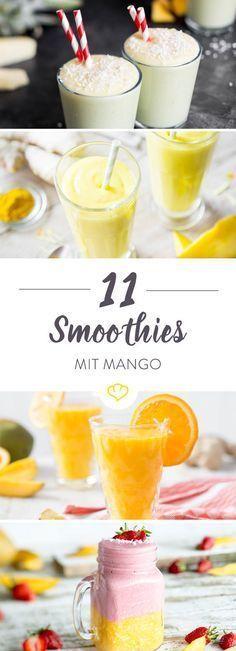 11 Smoothies mit Mango. Jeden Tag neu, jeden Tag anders. Und jeden Tag ein kleiner Ausflug an Strand und Meer …