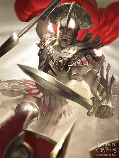 Hot Conceptual Illustrations by Clint Cearley (Legend of Cryptids) Gods Of War, Character Inspiration, Character Art, Character Concept, Spartan Tattoo, World Of Warriors, Roman Warriors, Greek Warrior, Spartan Warrior